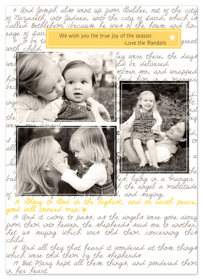 holiday photo cards - true joy by sara westbrook