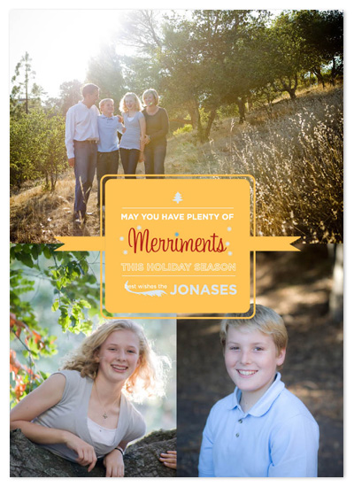 holiday photo cards - Merriments by 175DesignStudio