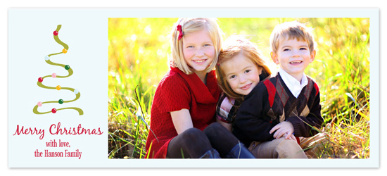holiday photo cards - Christmas Swish by PS