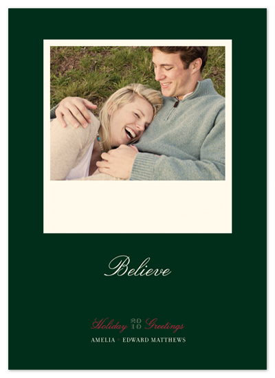 holiday photo cards - float + believe by Float Paperie