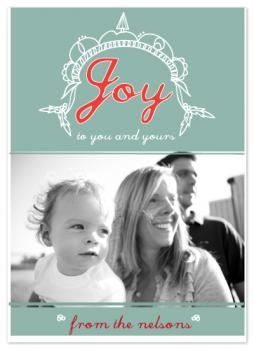 Vine and Yours Holiday Photo Card