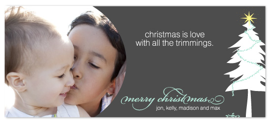 holiday photo cards - Trimmings by Kim Mitchell
