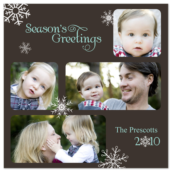 holiday photo cards - Winter Snow by PS