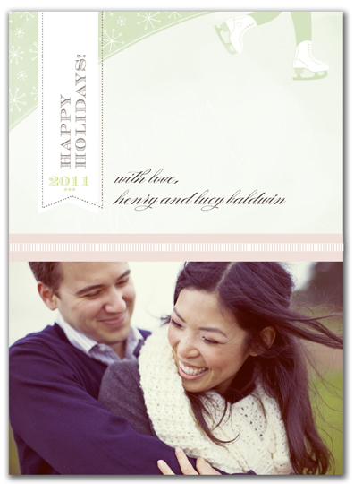 holiday photo cards - Simple Mint  by Lisa Samartino Design