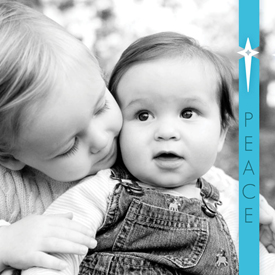 holiday photo cards - Clear Blue Star by Laura Belle Hanley