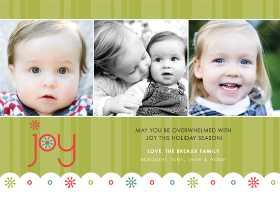 holiday photo cards - Funky Holiday Joy by mango designs