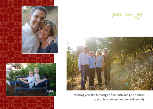 holiday photo cards - Good Cheer by Green Ink