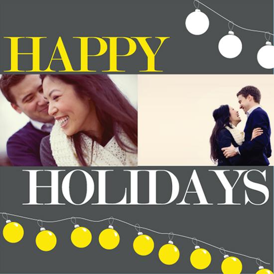holiday photo cards - Elemental Ornamental by Justina Blakeney