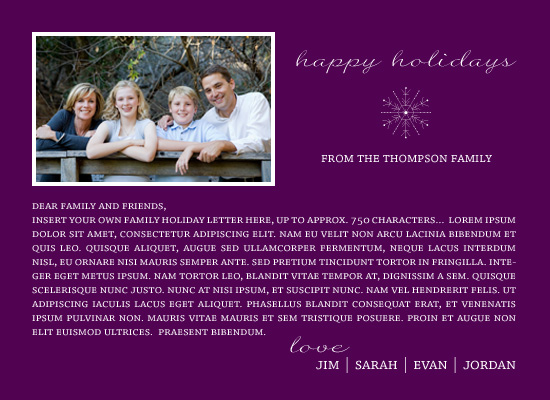 holiday photo cards - Holiday Photo Letter by Maxeli Designs