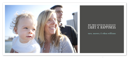 holiday photo cards - Solstice by Up Up Creative