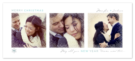 holiday photo cards - Frosted Window Panes by Design Lotus