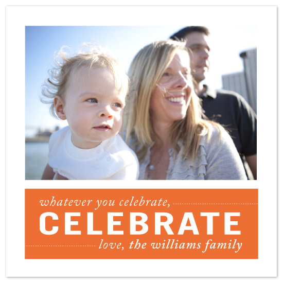 holiday photo cards - celebrate by Up Up Creative