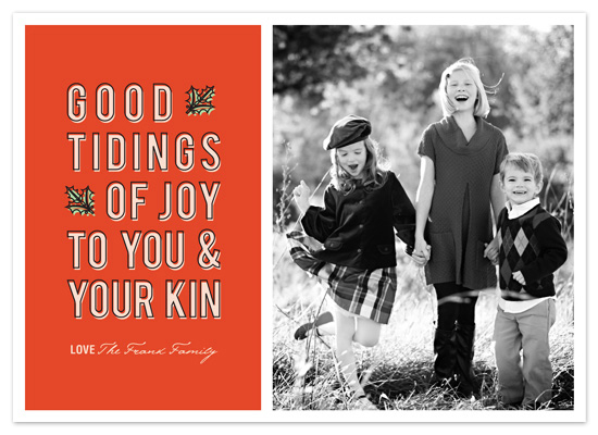 holiday photo cards - Good Tidings  by Snow and Ivy
