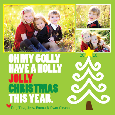holiday photo cards - Holly Jolly Christmas by Lindsey Paige