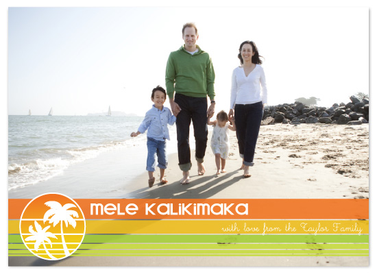 holiday photo cards - Mele Kalikimaka! by Claire Marco