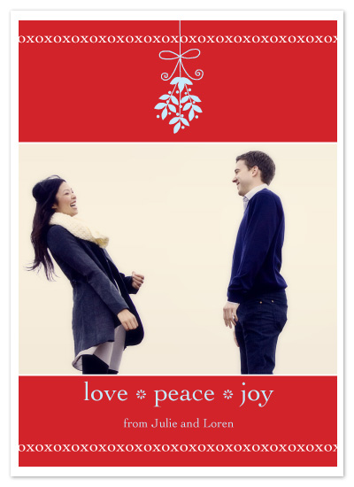 holiday photo cards - mistletoe by Jeannene Langford