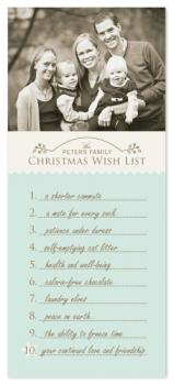 our christmas wish list