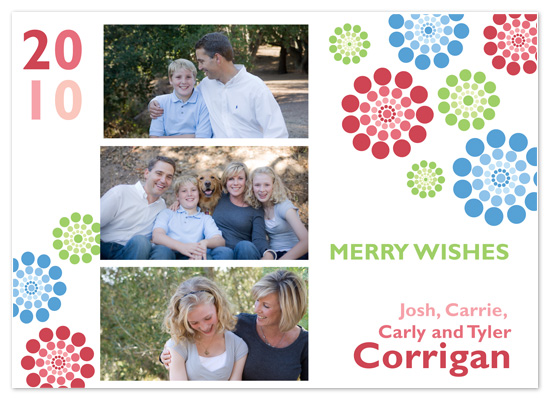 holiday photo cards - Mod Flower Holiday by Brooke Zelwin