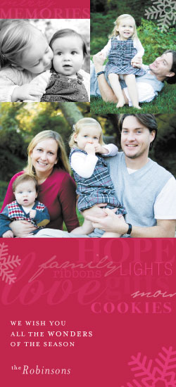holiday photo cards - Warm Wonderful Words by Whimsical Wedding Invitations