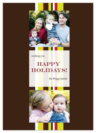 holiday photo cards - Holiday Ribbon by bright designlab
