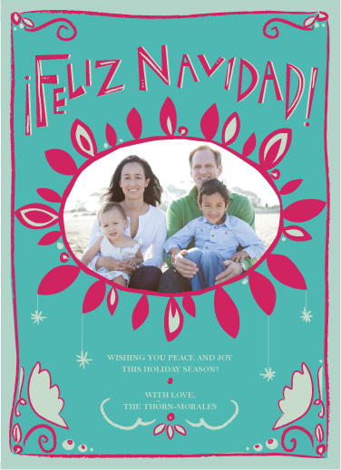 holiday photo cards - Folkloric Feliz Navidad by Lauren Fasnacht