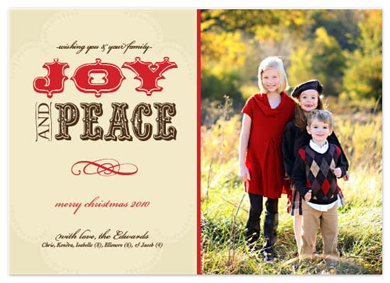 holiday photo cards - Joy & Peace by Katie Venti