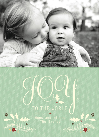 holiday photo cards - 2010 joy to the world : holiday garland by Two Brunettes