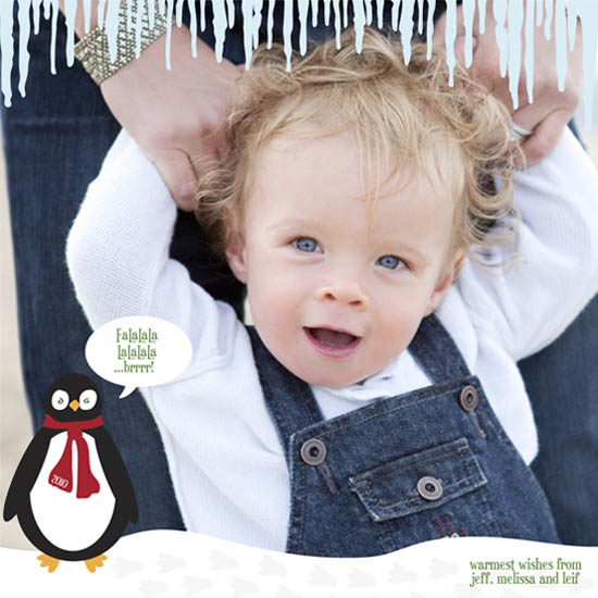 holiday photo cards - Frigid Penguin by Jody Sie