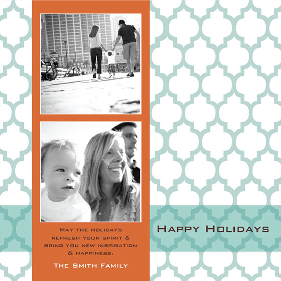 holiday photo cards - Blue Moroccan Holiday by mango designs