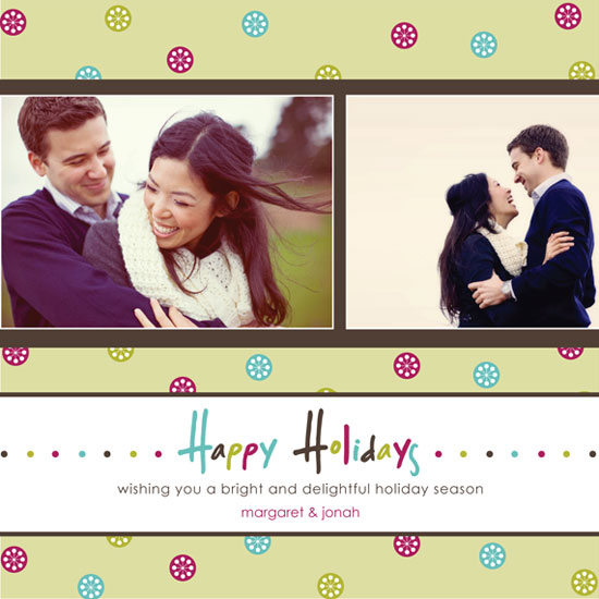 holiday photo cards - Funky Holiday Flakes by mango designs