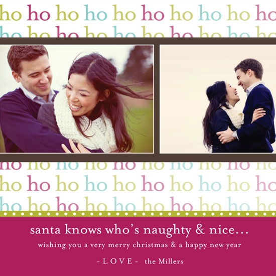 holiday photo cards - Funky HO HO HO by mango designs