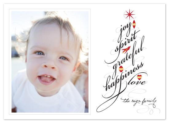 holiday photo cards - Swirly Tree by Yolanda Mariak Chendak