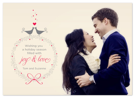 holiday photo cards - Joy and Love by Fine Day Press