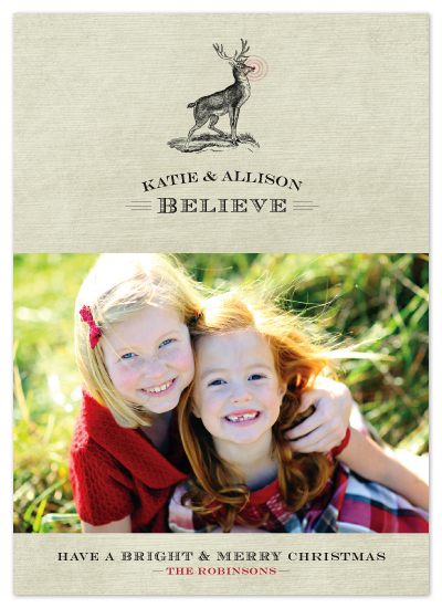 holiday photo cards - We Believe by Ann Gardner