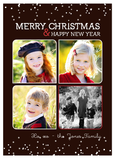 holiday photo cards - chocolate snow by sara westbrook