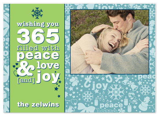 holiday photo cards - 365 Days of Holiday Happiness by Brooke Zelwin