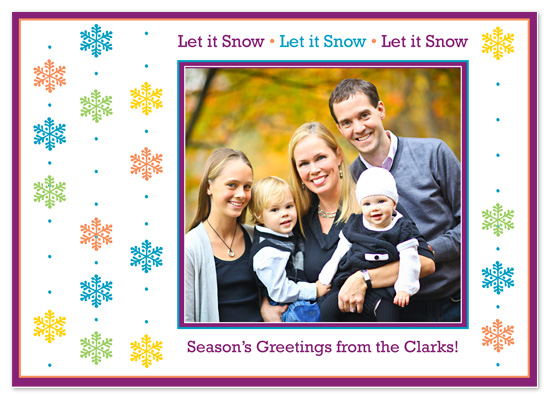 holiday photo cards - Let it Snow by Brooke Zelwin