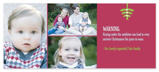holiday photo cards - Mistletoe Warning by Susan Crispell