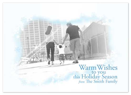 holiday photo cards - Warm Wishes by Julie Lockwood