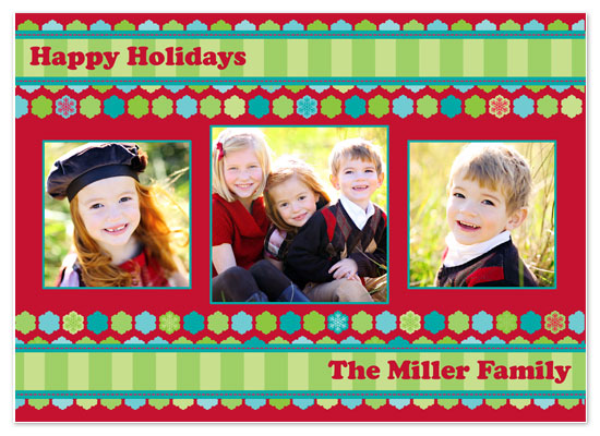 holiday photo cards - Snowflake Ric Rac by Brooke Zelwin