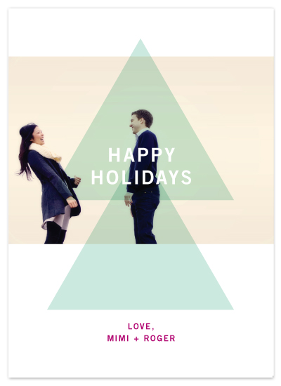 holiday photo cards - Modern Tree by Precious Bugarin Design