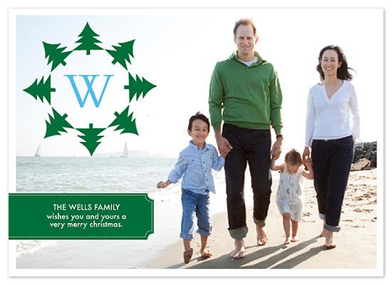 holiday photo cards - Xmas Tree Circle by Blue J