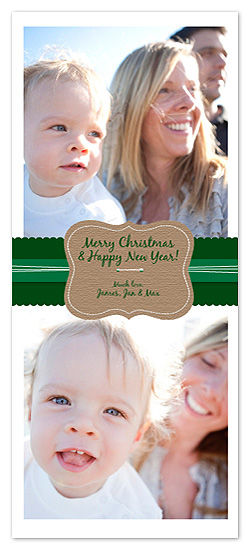 holiday photo cards - All Wrapped Up by Blue J
