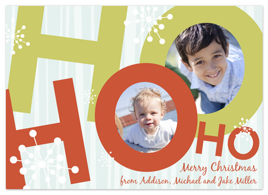 holiday photo cards - Ho Ho Holidays by hatched prints