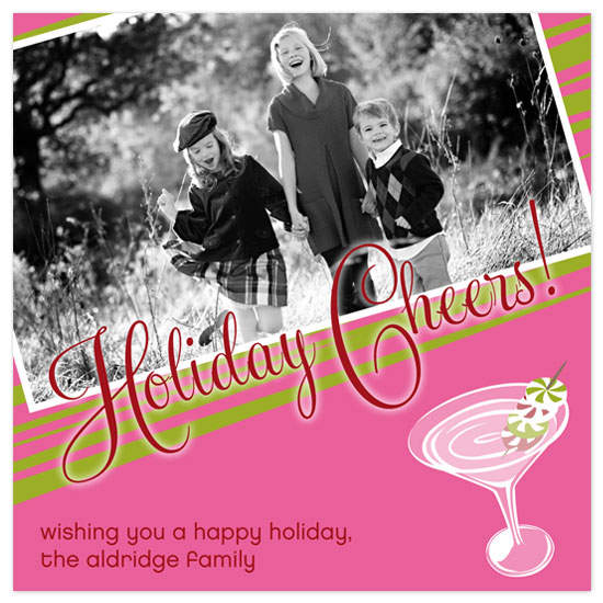 holiday photo cards - Holiday Cheers by hatched prints