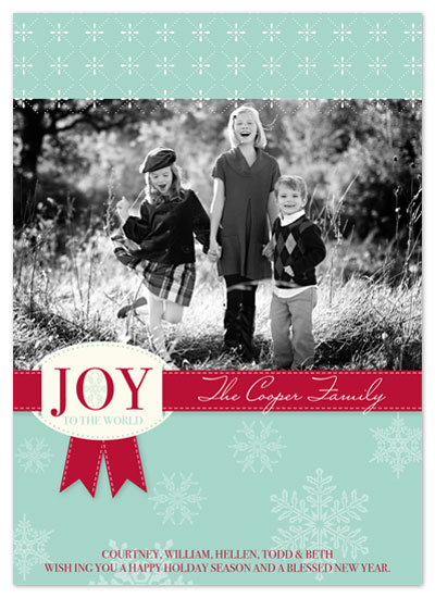 holiday photo cards - Joy to the World by hatched prints