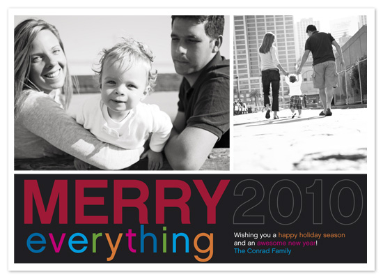 holiday photo cards - Merry Everything Mod by hatched prints