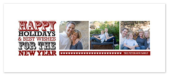 holiday photo cards - Type Block  by Blue J