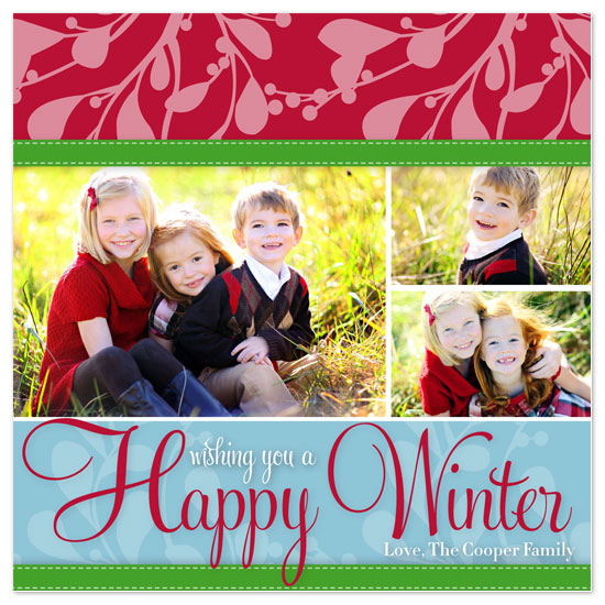 holiday photo cards - Happy Winter by hatched prints