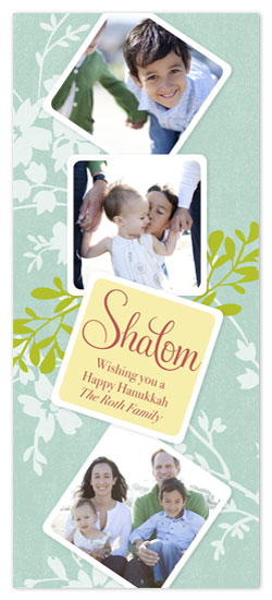 holiday photo cards - Shalom by hatched prints
